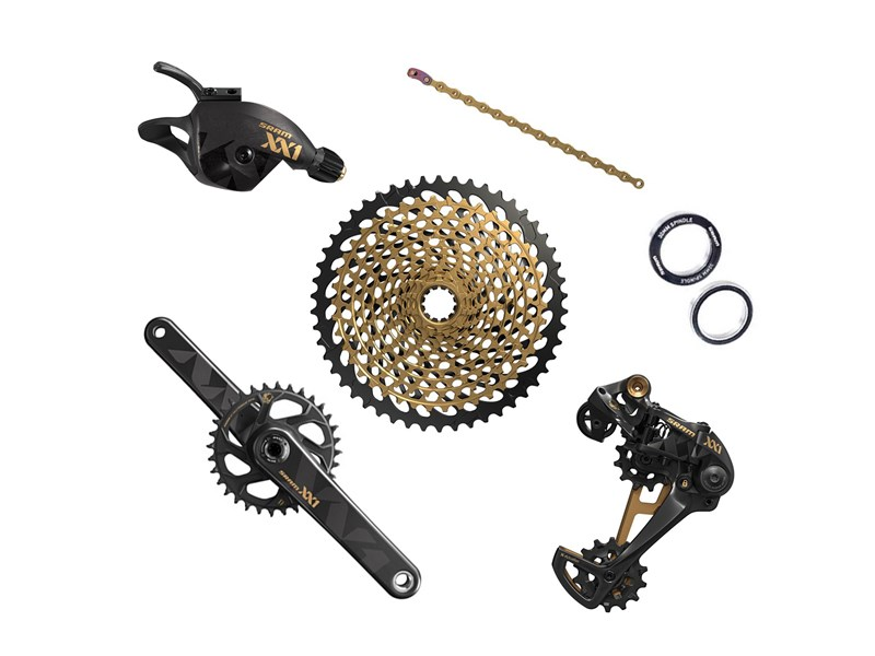 SRAM XX1 Eagle Gold BB30 12 speed gruppe - 8.999,00 | Groupsets