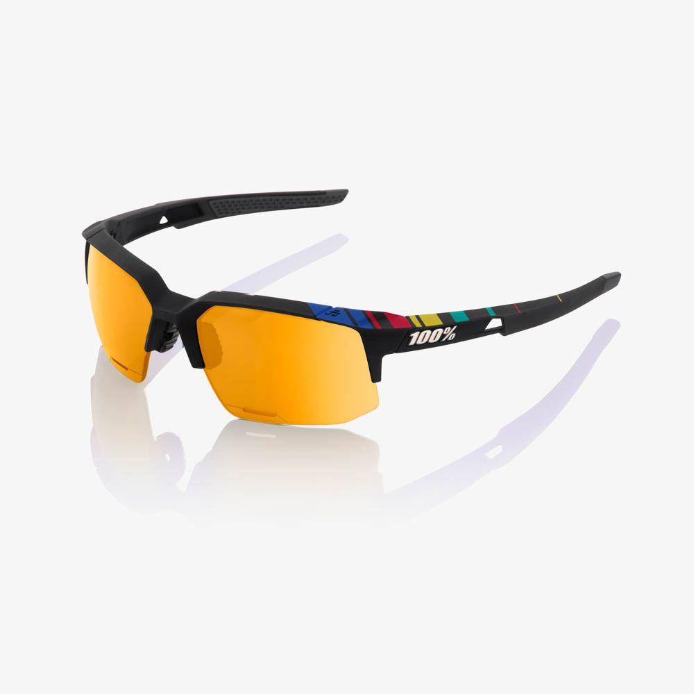 100% Speedcoupe SAGAN edition Soft Tact Black P1 (Gold mirror linse) Cykelbriller | Briller