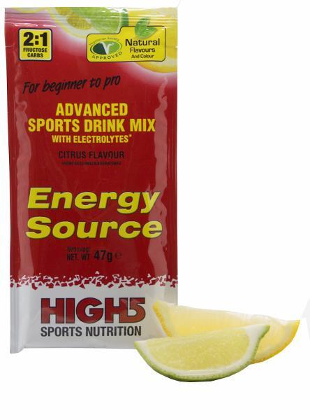 12 x High5 EnergySource Citrus brev 47g - KORT HOLDBARHED