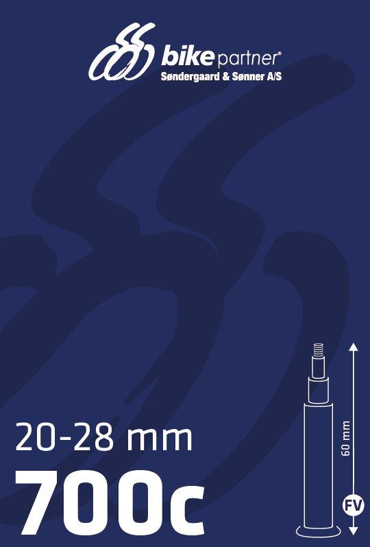 Slange 700x20-28C FV60 20/28-622/-630 BikePartner uden gevind | Tubes