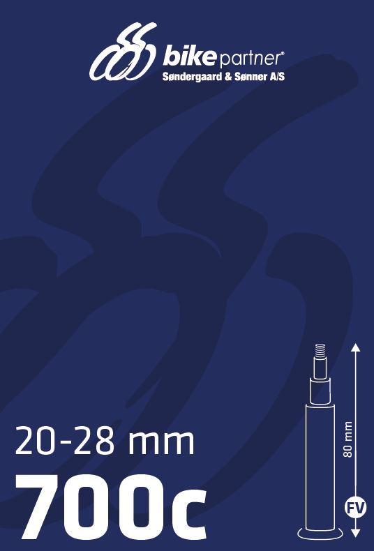 Slange 700x20-28C FV80 20/28-622/-630 BikePartner uden gevind   Tubes