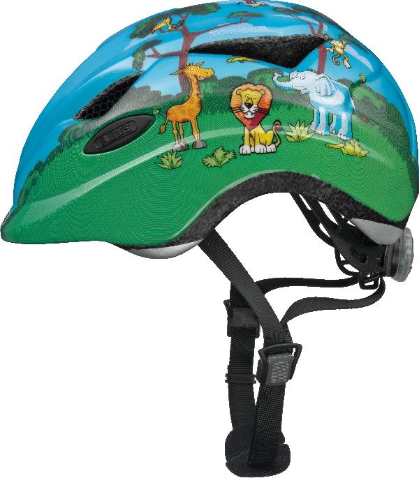 Abus Anuky Jungle børnehjelm blå/grøn | Helmets