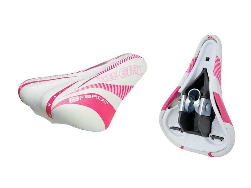 Force børne sadel hvid/pink | Sadler