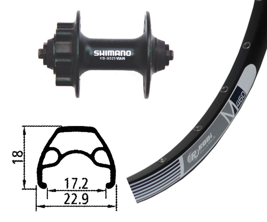 Forhjul Rodi M 460 Sort | Forhjul