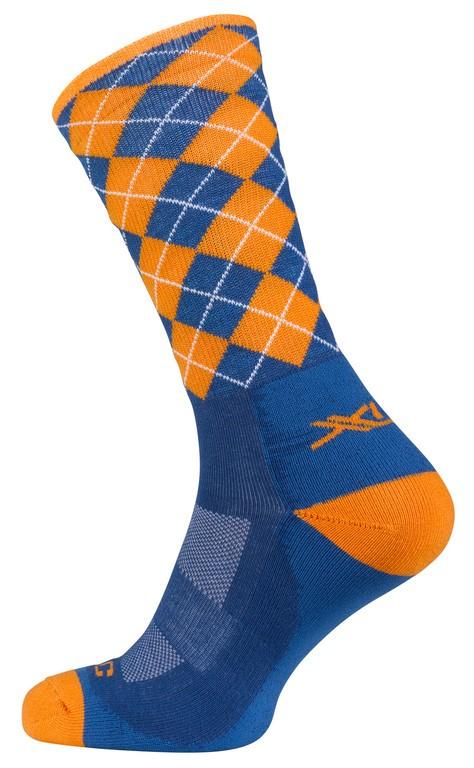 XLC Blå/orange ternet cykelsokker | Socks