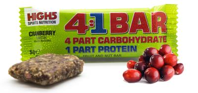 25 x High5 4:1 Advanced training bar Cranberry - KORT HOLDBARHED
