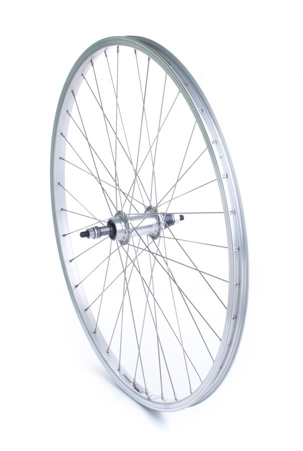 Baghjul 26 MTB 7 Skruekrans sølv | Rear wheel