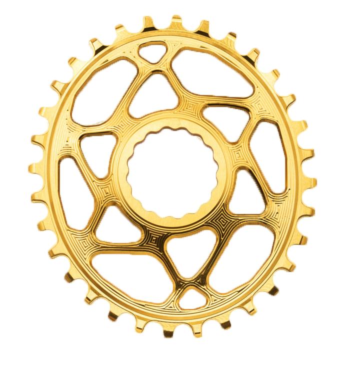 Absolut Black RaceFace Oval Klinge Guld 34T | chainrings_component