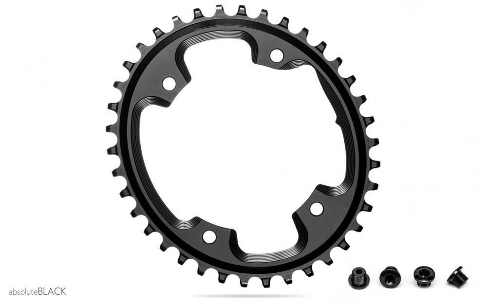 Absolute Black oval klinge til cross eller gravel, ø110 Asymetrisk 5hul 40T Sort | chainrings_component