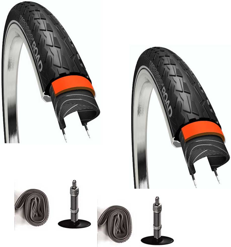 2 dæk + 2 slanger 5 mm punkteringsbeskyttelse 700x25c | Dæk