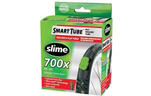 Slange med Slime lappevæske 700x35-43c autoventil | Slanger