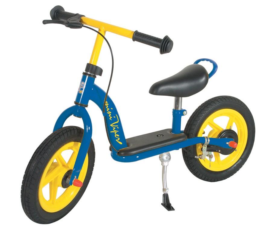 Løbecykel blå/gul 12
