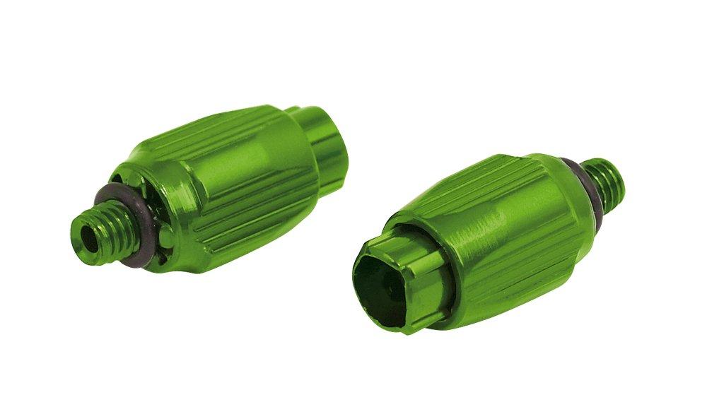 Kabeljusterskrue til stel med gevind 2 stk grøn | Stel og rammer