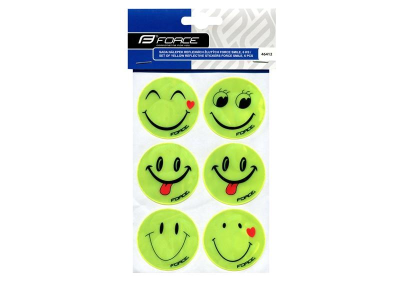 Force Smiley refleks klistermærker 6 stk. | Reflekser