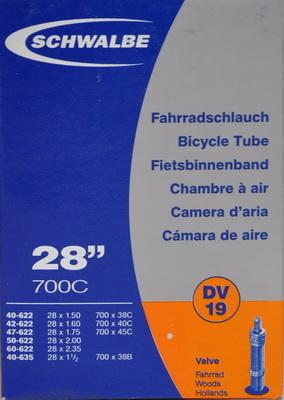Slange 700x38-62C SCHWALBE DV19 | Slanger