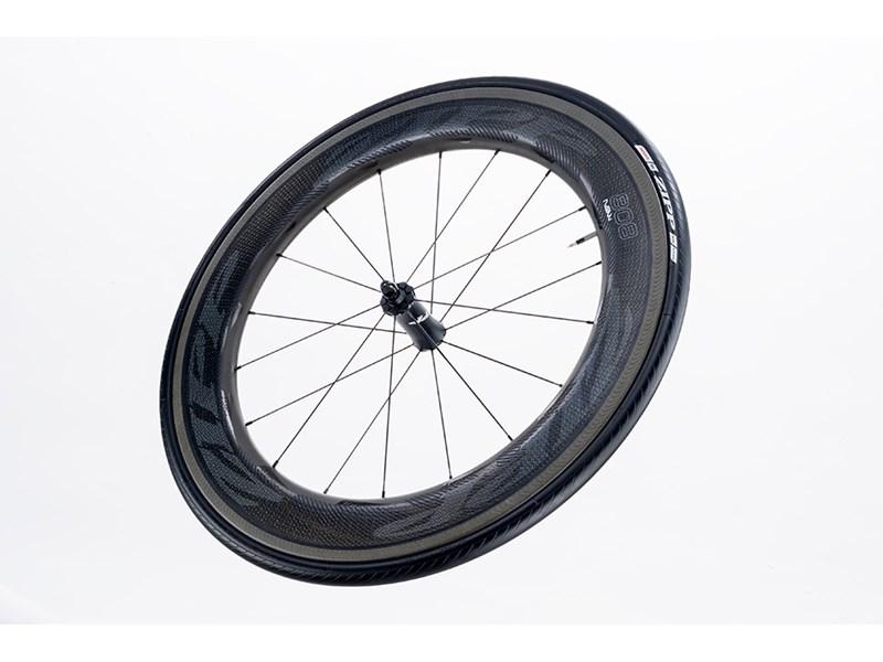 Zipp 808 NSW Carbon Clincher forhjul sort grafik | Forhjul