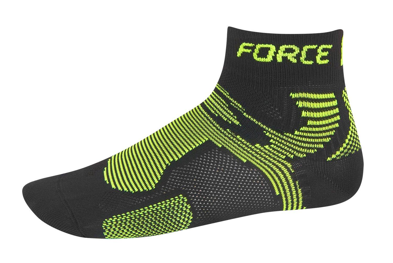 Force sokker sort/fluo low cut | Strømper