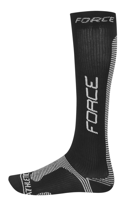 Force Athletic PRO kompressionsstrømper Sort/hvid | Compression
