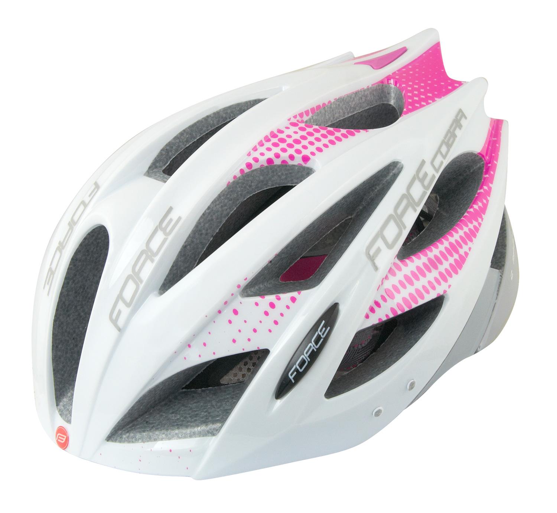 Force Cobra hjelm hvid/lyserød/grå   Hjelme