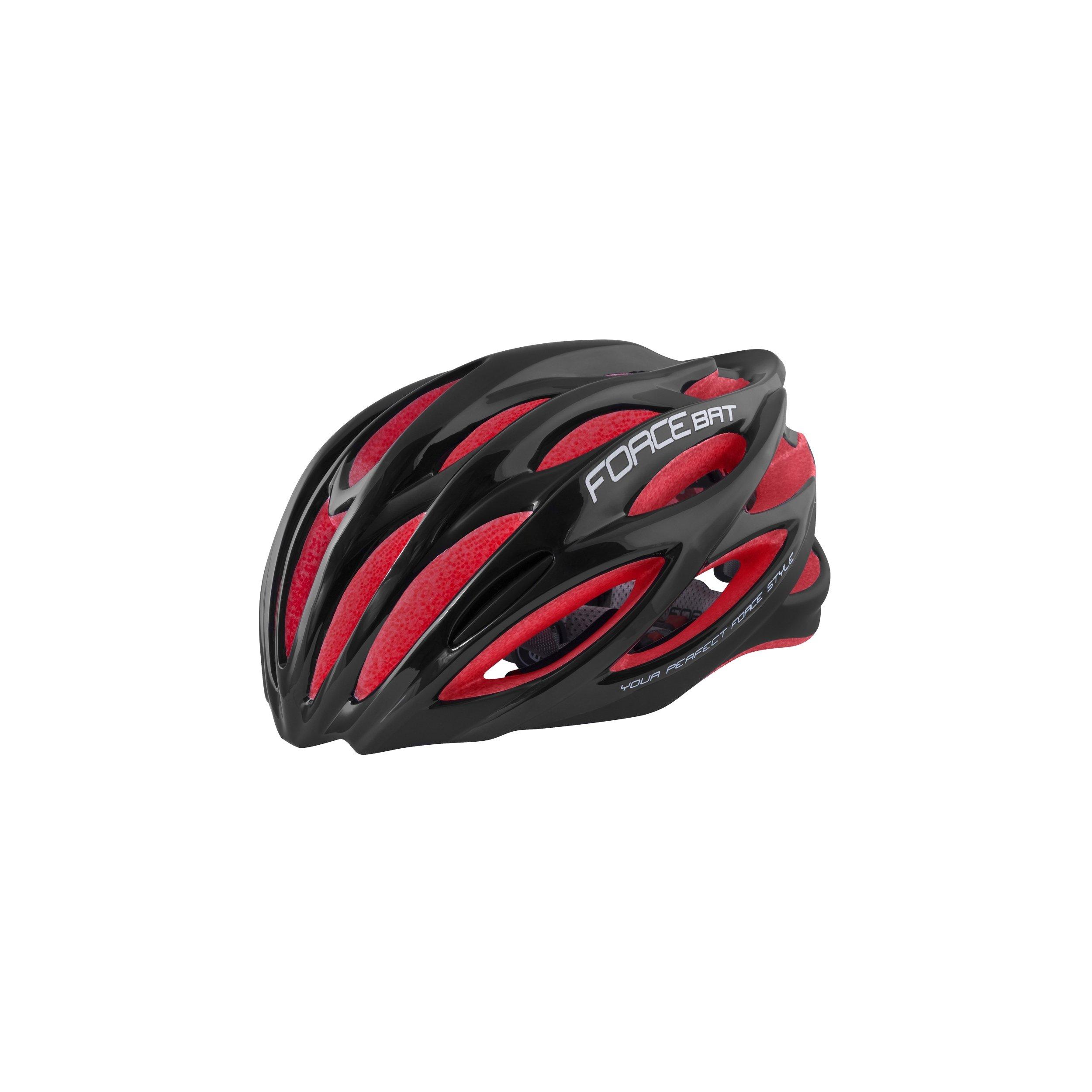 Force Bat hjelm sort/rød Blank   Helmets