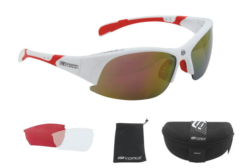Force F.Ultra solbrille hvid/rød | Briller