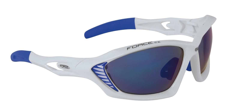 Force Max cykelbriller hvid/blå | Briller