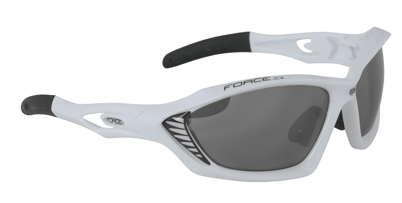 Force Max cykelbriller Hvid/sort