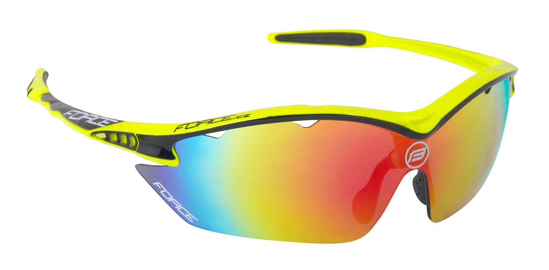 Force Ron cykelbrille med 3 sæt linser Gul Multilaser