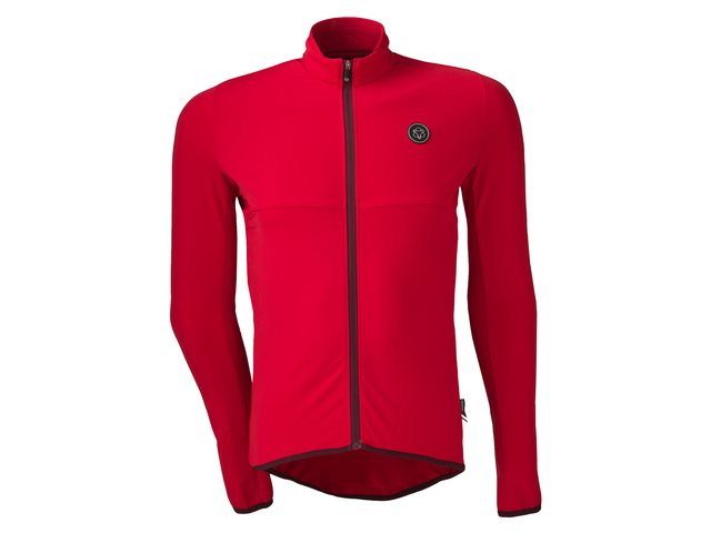 AGU Essential Thermo længærmet cykeltrøje rød | Trøjer