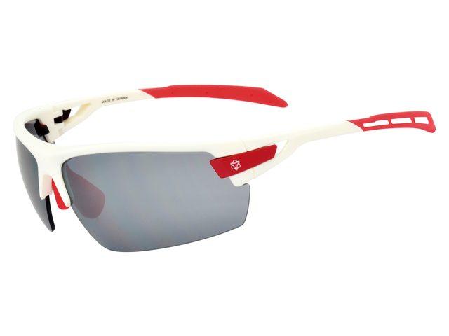AGU Foss cykelbriller hvid/rød med 2 ekstra sæt linser