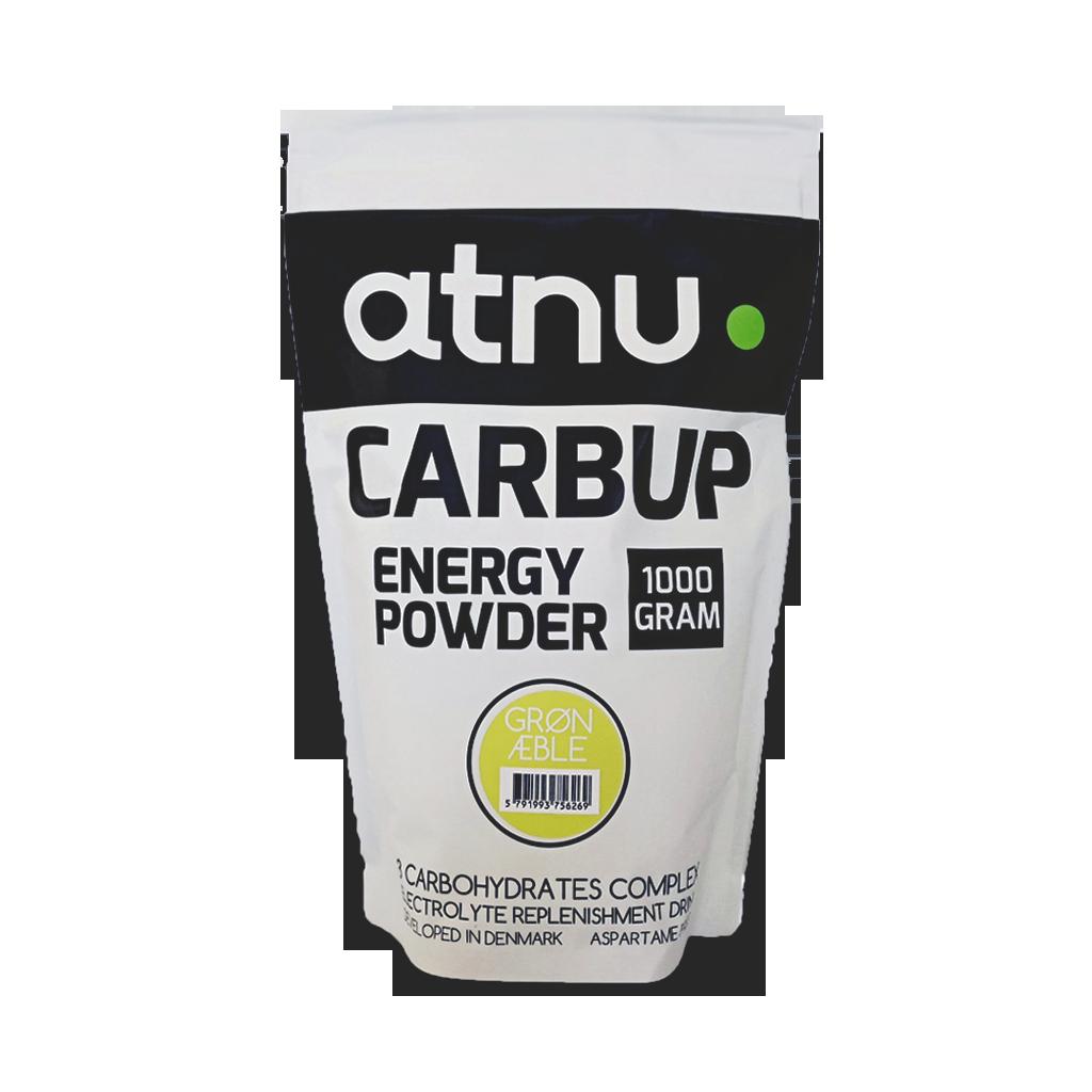 ATNU Carbup energipulver æble med elektrolytter 1kg | Energy drinks