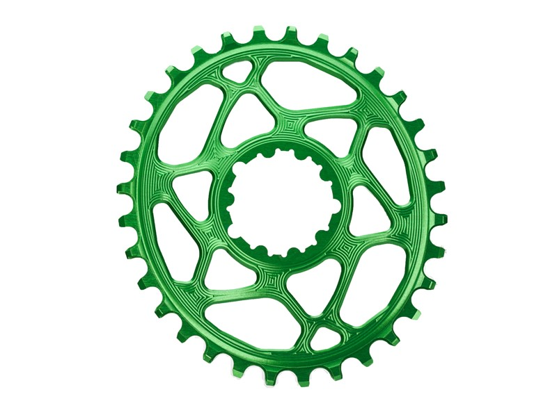 Absolute Black Klinge direkte montering SRAM GXP grøn | Klinger