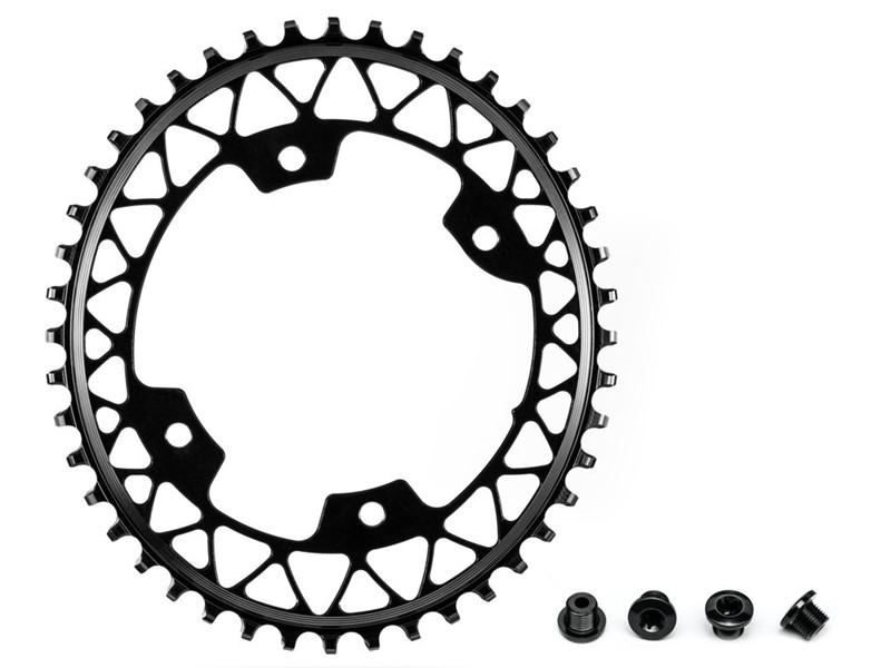 Absolute Black oval klinge til gravel, 44t, ø110, 4huls, sort | chainrings_component
