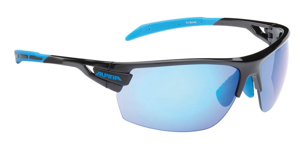 Solbrille Alpina Tri-Scray Sort/blå | Glasses