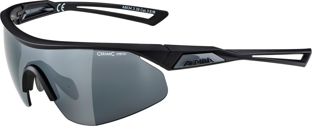 Alpina Nylos Shield Cykelbrille Sort | Briller