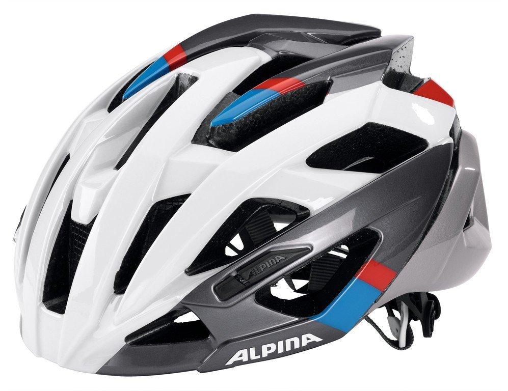 Alpina Valparola RC Hvid/sølv/blå/rød 58-53 cm | Hjelme