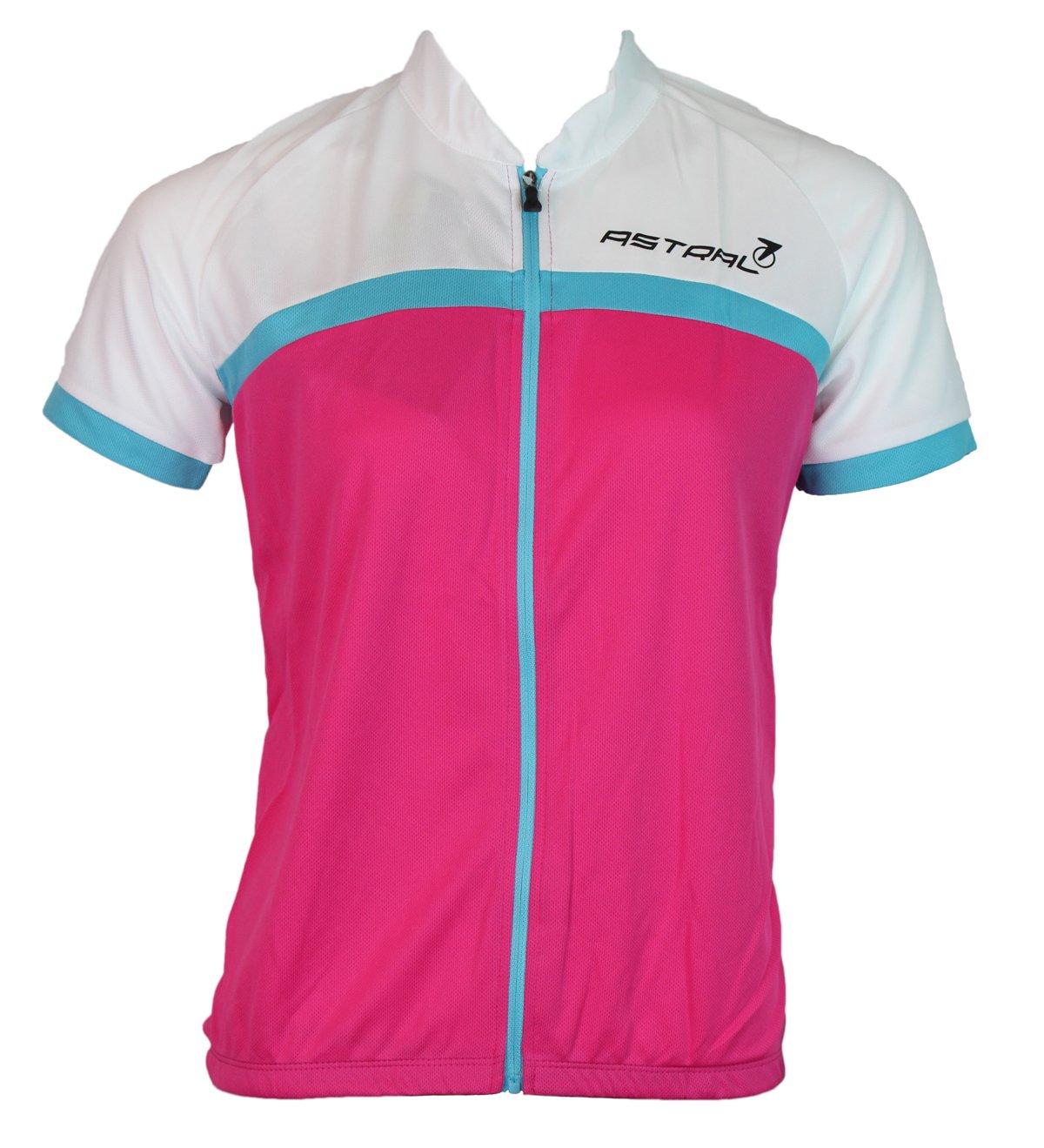 Astral Biking Jersey hvid/pink/blå
