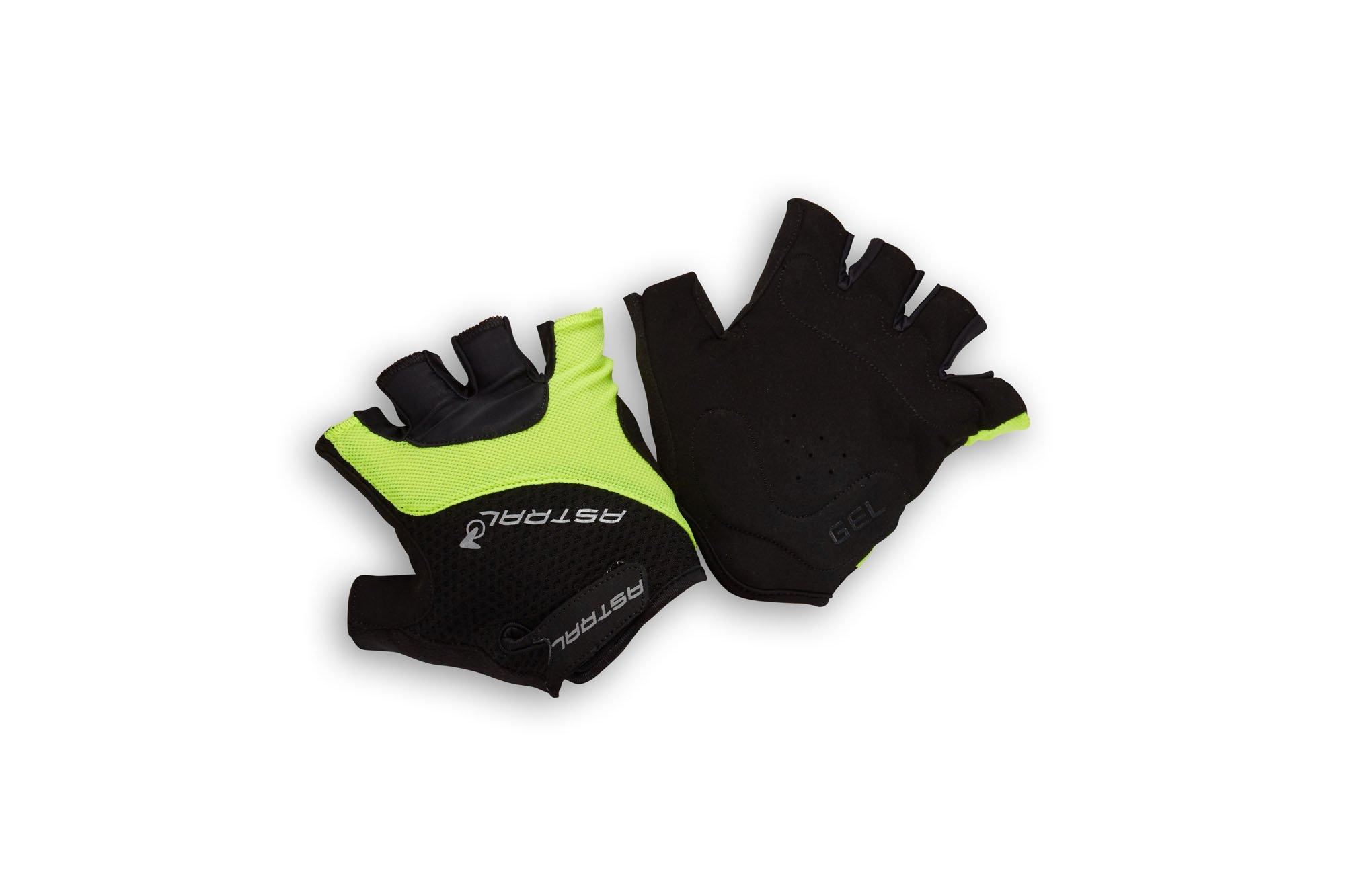 Astral Protect kort cykelhandske gul og sort | Handsker