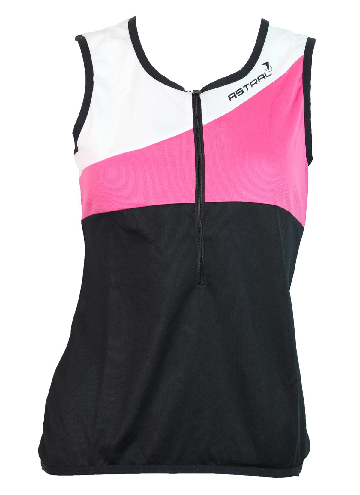 Astral Spinning Jersey uden ærmer sort/hvid/pink | Trøjer