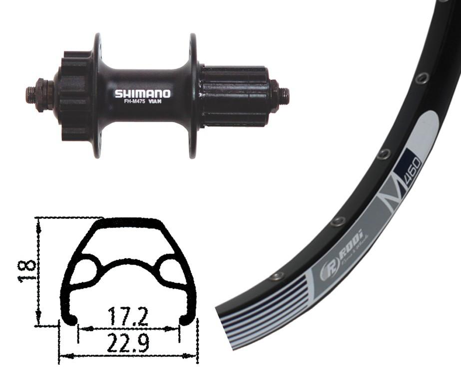 Baghjul Rodi M 460 Sort | Rear wheel
