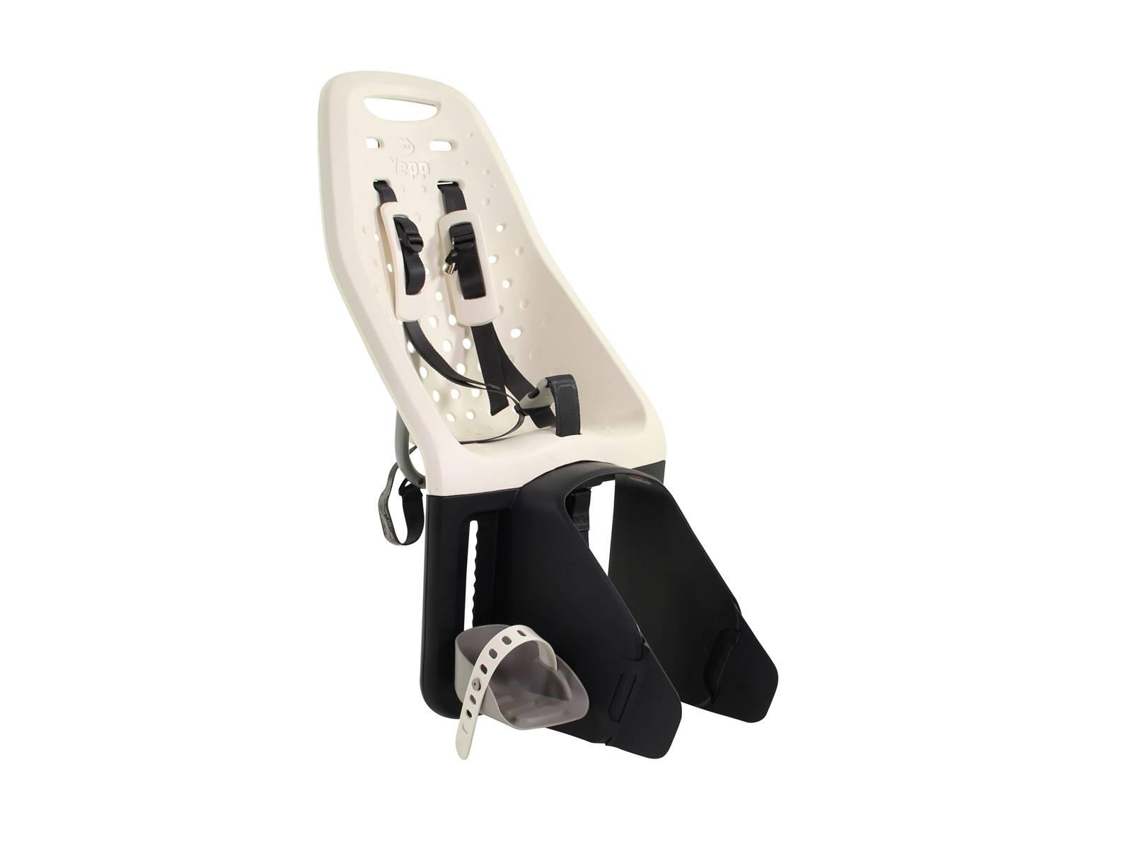 Barnestol bag Yepp hvid med beslag til bagagebærer | Bike seat