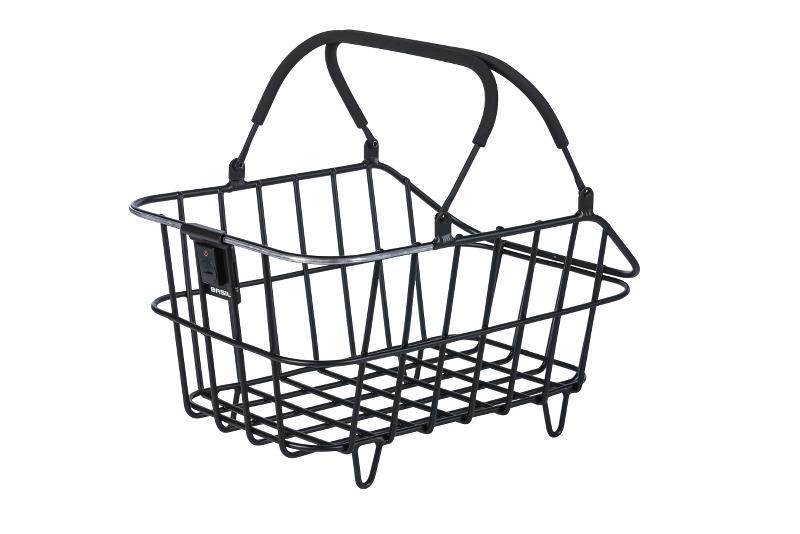Basil Bagkurv Cento Alu 46x34x25,5 sort Med Lys | Bike baskets
