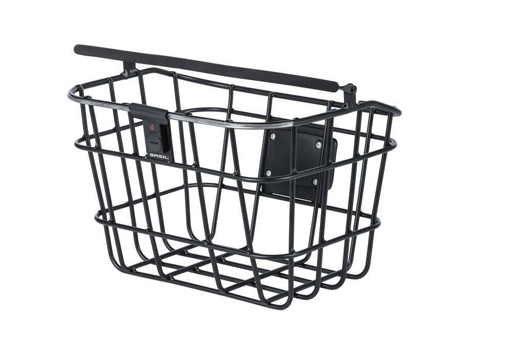 Basil Northlight Aluminium Front Kurv Med Hank | Bike baskets