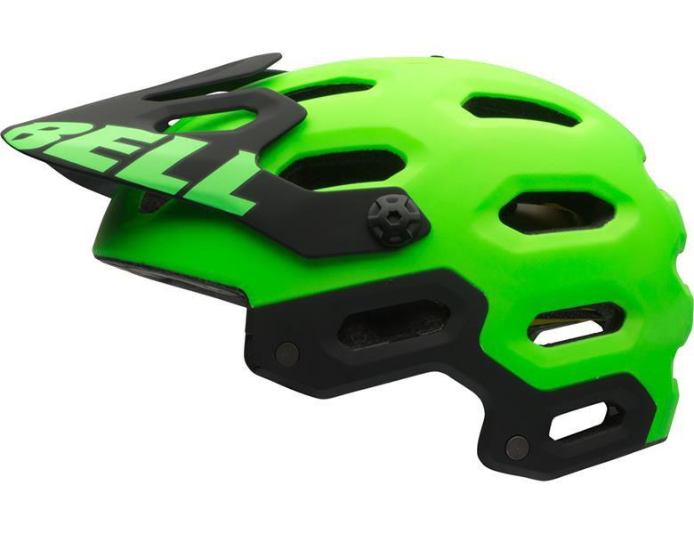 Bell Super 2 MIPS hjelm i grøn og sort