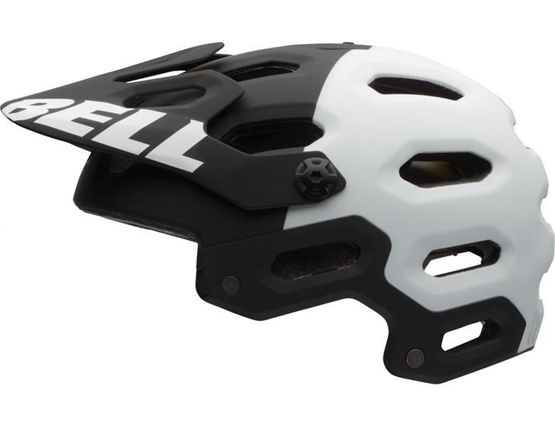 Bell Super 2 MIPS hjelm i hvid og sort