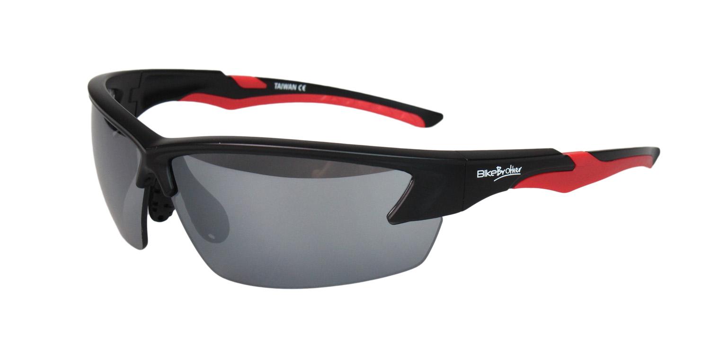 BikeBrother Cykelbriller Sort/Rød