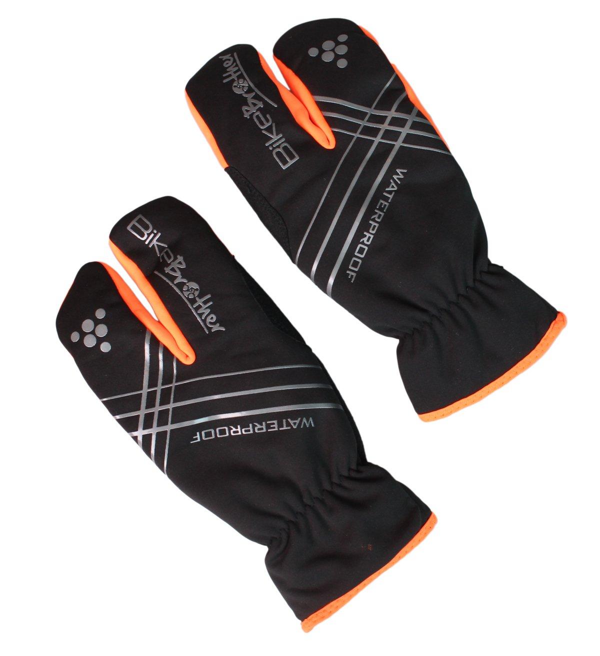 BikeBrother Lobster Handsker Sort/Orange - 199,00 | Gloves