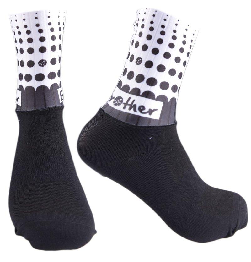 BikeBrother Team Black and White strømper | Socks