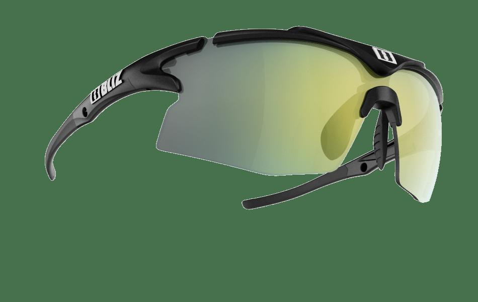 Bliz Tempo Cykelbriller Sort Med Ekstra Linse