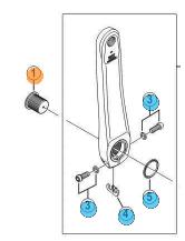 Bolt til pedalarm Shimano FC4700,FC4703,FC5800,FC6800 | item_misc